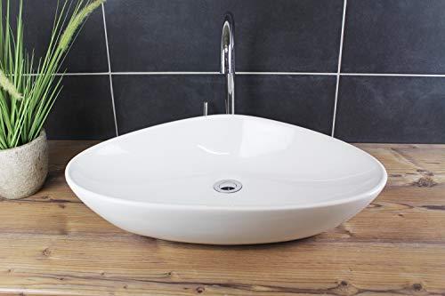 Design Aufsatzwaschbecken 8233A Waschschale Waschbecken Aufsatzwaschschale Weiß