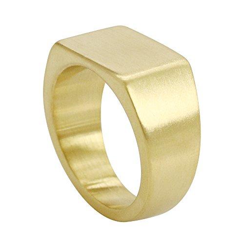 Civetman Titanstahl Gold Square Mens Band Ring Schmuck (Ring Band Square)