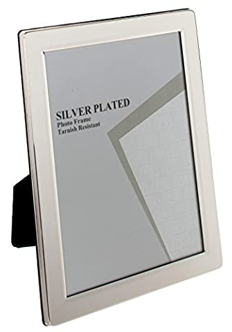 Unity 8 x 10-inch Flat Edge Photo Frame, Silver Plated