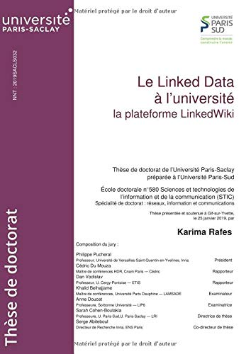 Le Linked Data à l'université: La plateforme LinkedWiki par  Karima Rafes