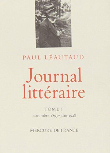 Journal littéraire. Tome 1. Novembre 18...