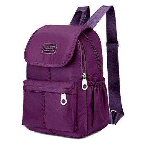 Sacchetto Di Spalla Delle Donne Sacchetto Di Spalla Impermeabile Dello Zaino Impermeabile Dello Zaino Di Campeggio Esterno Sportivo,24*12*33cm-Lightpurple Purple