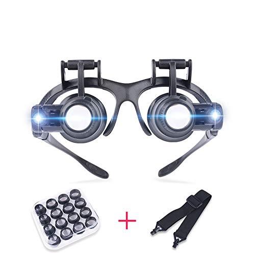 Unbekannt Uhr-Reparatur-Lupe Juwelier-Uhr-Reparatur-Werkzeug-Set with2.5X 4X 6X 8X 10X15X20X25XLED Lights