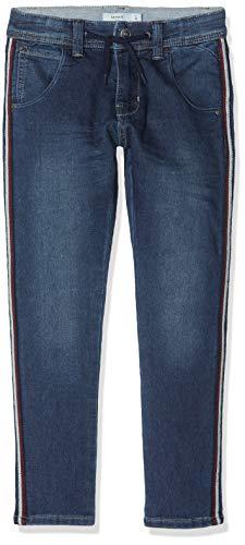 NAME IT Jungen Jeans Sweatjeans mit Seitenstreifen NKMBABU, Blau (Medium Blue Denim), (Herstellergröße:146)