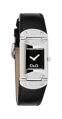 Dolce & Gabbana BLK DIAL BLK Strap DW0325 - Reloj de Mujer de Cuarzo (japonés), Correa de Piel Color Negro de Dolce & Gabbana