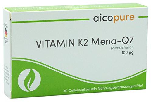 VITAMIN K2 100 µg • Menaquinon MK7 • 95% all-trans Menaquinon-7 • vegan • Kapseln • Made in Germany