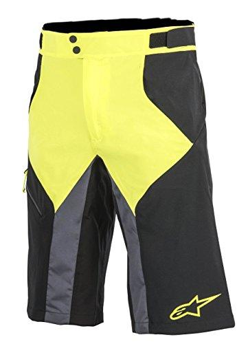 Wasser Shorts (Alpinestars Herren Outrider Wasser Base beständig Shorts, Mehrfarbig (Black/Acid Yellow), 52 (Herstellergröße: 36))