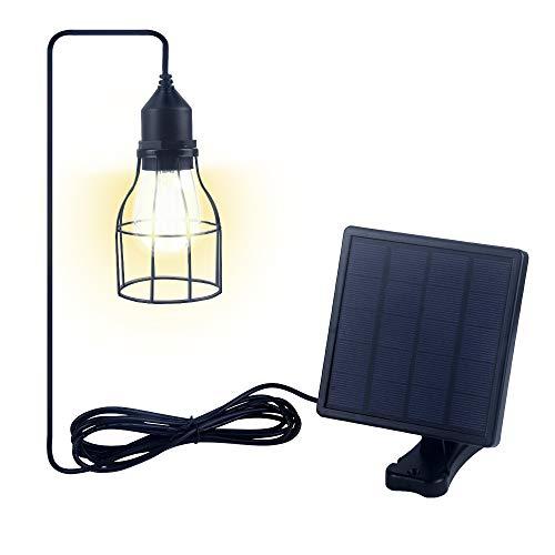 Jolicobo LED Solarlampen Solar Hängeleuchte 2 Modi IP65 Wasserdicht Solar Pendelleuchte Hängelampemit Solarpanel und Zugschalter für Außen (Vogelkäfig)
