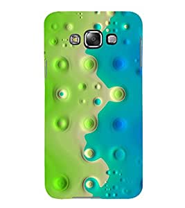 Print Masti Designer Back Case Cover for Samsung Galaxy E5 (2015) :: Samsung Galaxy E5 Duos :: Samsung Galaxy E5 E500F E500H E500Hq E500M E500F/Ds E500H/Ds E500M/Ds (Bubble Circle Hole Green )