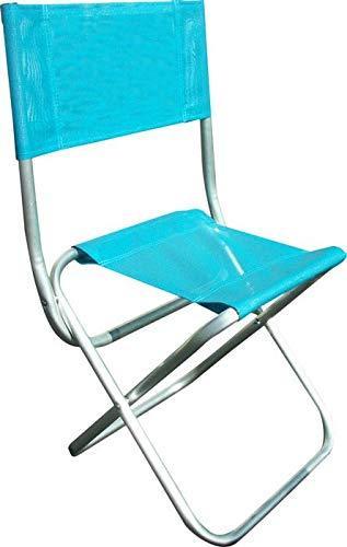Siege de plage en aluminium et textilène Segura Bleu Celeste