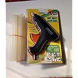 SHWETA GIFTOREYA Hot Melt Glue Gun Kit 40 Watt, Decorations & Furniture Quick Repairs,Fabric (Black And Orange With 20 Hot Glue Gun Sticks Included)