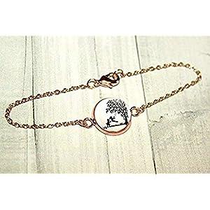 Große und kleine Schwester – Handmade Scherenschnitt Freundschafts Armband roségoldfarben,16-17cm, ein handgefertigtes Geschenk für die liebste Schwester oder beste Freundin