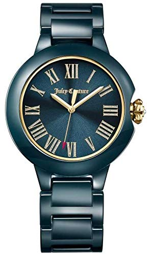 Juicy Couture Womens Noir Burbank Montre en céramique 1901653