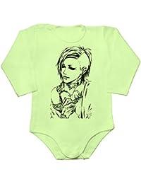 Uta Drawing Baby Long Sleeve Romper Bodysuit