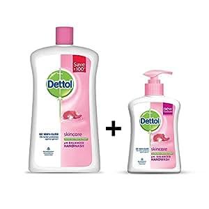 Dettol Liquid Hand Wash Jar Skincare 900 ml with Free Dettol Handwash 200 ml (Any Variant)