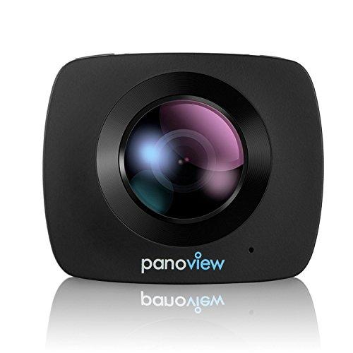 ELE CAM 360 Grad Kamera Videokamera Panoramakamera Ball Cam kugelkamera Überwachungskamera 220°Fisheye Wilde Winkelobjektiv 1080P Full HD 30FPS 8MP Wifi für virtuelle Brille, mit 32 GB SD Karte