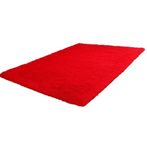120cm*80cm Alfombra de piso grande, Holacha Alfombra Antideslizante Rectángulo para Sala, Comedor, Cuarto (rojo)