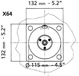 Osculati 45.270.03 - Flangia per timonerie idrauliche Ultraflex