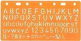 Schablone Standard-Schrift 10 mm