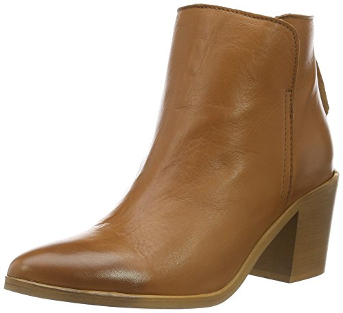 PIECES Psdolly Leather Boot, Stivaletti Donna, Marrone (Cognac), 39 EU