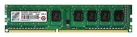 Transcend - TS256MLK64V3N - Barre de Memoire 2GB DDR3 1333 U-DIMM - 1RX8