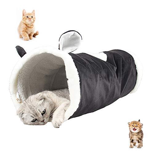 UniM Pet Interactive Play Gatto Tunnel Multifunzione Warm Snug Tappeto Mat Letto con Crinkle Sound, Giocattolo Pieghevole per Gatti, Ideale per Cuccioli, Conigli, porcellini d'India.