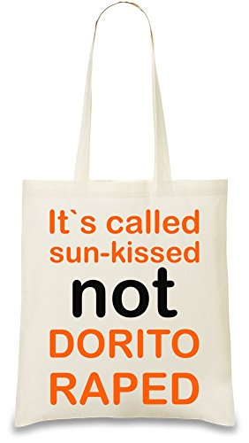 its-called-sun-kissed-not-dorito-raped-funny-slogan-bolso-de-mano