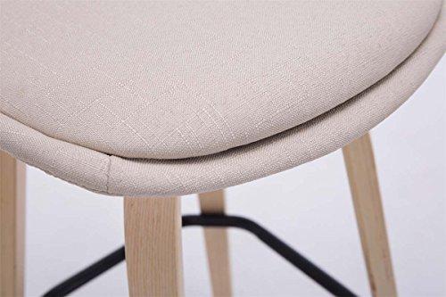 Clp sgabello alto di design avika telaio in legno color naturale