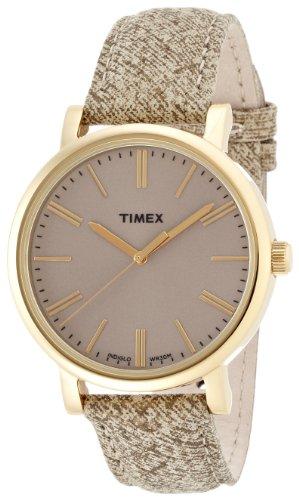 Timex - T2P173 - Heritage Easy Reader - Montre Femme - Quartz Analogique - Cadran Marron - Bracelet Cuir Marron