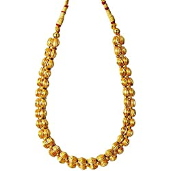 Womens Trendz Traditional Handmade Jewellery Plain Lambat Mani Thushi Necklace for Women and Girls