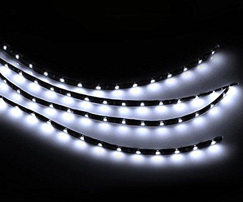 Preisvergleich Produktbild Zento Deals 30 cm weiß LED Auto flexible Light Strip Wasserdicht (4 Stück)