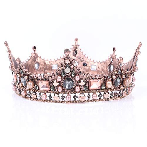 Meiqqm Heißer verkauf Hochzeit Krone Kristall Strass Prinzessin Krone mit Kamm Exquisite Stirnband für frauen (Für Krone Verkauf Prinzessin)