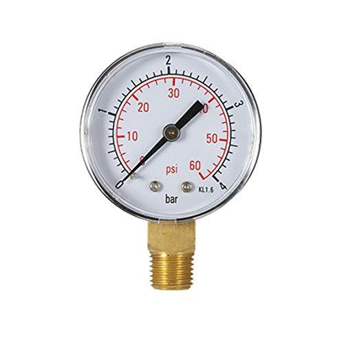 Medidor de Presion de agua Calibrador de presión de piscina 60PSI 1/4