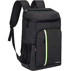 PengDa 30L Kühl Rucksack Kühltasche – Groß Isoliert Kühlrucksack Wasserdichten Ultraleicht Rucksäcke Damen Herren Cooler Bag für Camping, BBQ, Wandern, Picknick (Schwarz)
