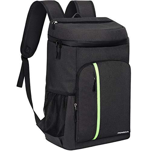 PENGDA 30L Kühl Rucksack Kühltasche - Groß Isoliert Kühlrucksack Wasserdichten Ultraleicht Rucksäcke Damen Herren Cooler Bag für Camping, BBQ, Wandern, Picknick (Schwarz) - Pack Geschenk-tasche
