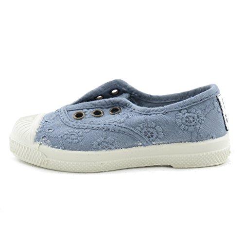 Natural World Chaussures de Coton avec Dentelle et Fond Caoutchouc 474590 Lavande Taille: 22