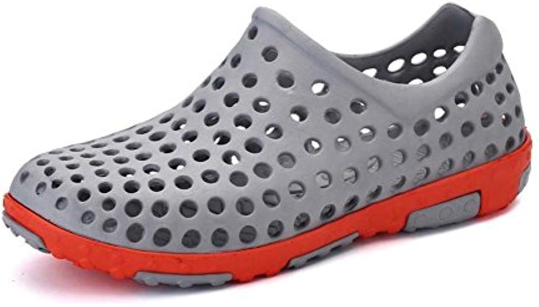 CCZZ Hombres Zapatos De Agua Verano Piscina Zapatillas Ahueca hacia Fuera Las Sandalias Antideslizantes Eva Zuecos... -