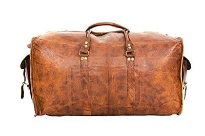 """Gusti Cuir nature """"Bobbie"""" sac de voyage sac en bandoulière sac en cuir besace cabas en cuir bagage à main bagage cabine sac porté main sac porté épaule marron R36b"""