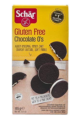 Dr. Schar Gluten Free Chocolate o's (Cocoa Sandwich Cookies), 165g