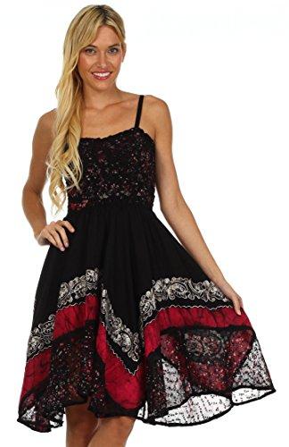 Sakkas Aphrodite Robe Batik Brodée Noir / Rose
