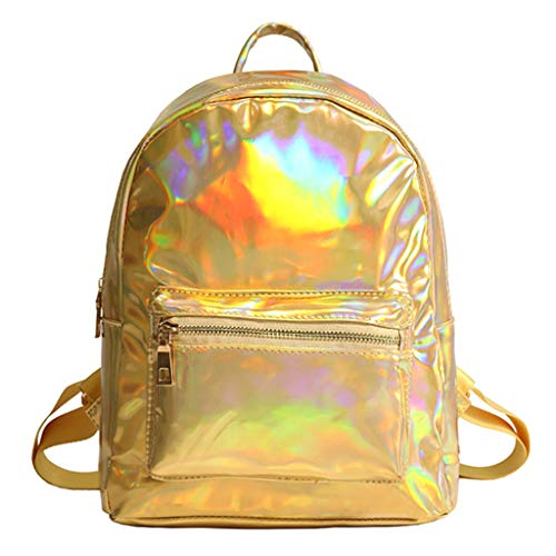 SimpleLife Donna Bling Glitter Fashion Zaino da Viaggio Casual Girl Viaggio Laser Spalla Daypack Olografico Zaino Scuola, 22x9x30cm