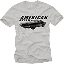 Camiseta Hombre Manga Corta - American Dream Car - Challenger RT Rockabilly T-Shirt