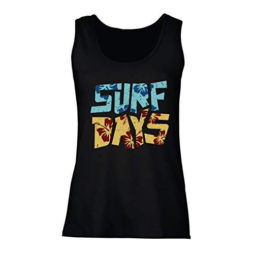 Top Sommer-Strand-Surftage, Kleidung für Surfboard-Liebhaber (X-Large Schwarz Mehrfarben) ()
