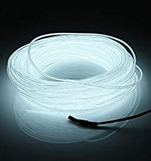 PR EL Wire Car Interior Light Ambient Neon Light 5 Meter Roll (White, Pack of 1) -Chevrolet Cruze Type 1 (2009-2014)