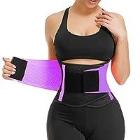 Cocosmart Waist Trainer Belt For Women - Waist Cincher Trimmer Waist Trainer Belt For Women Xs - Slimming Body Shaper Belt - Sport Girdle Belt Pruple Small