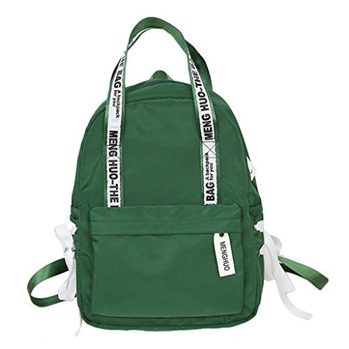 cf4d6eec4fea Senoow Letter Print Girls School Bags for Teenagers Women Nylon Travel  Backpack Daypack (Green)