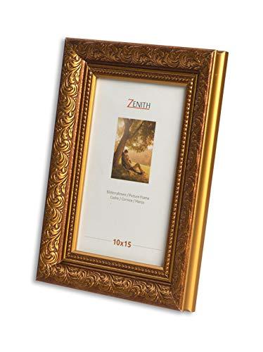 "Victor antiker Bilderrahmen \""Rubens\"" braun Gold in 21x30 cm - Leiste: 30x20 mm - Echtglas - barock"