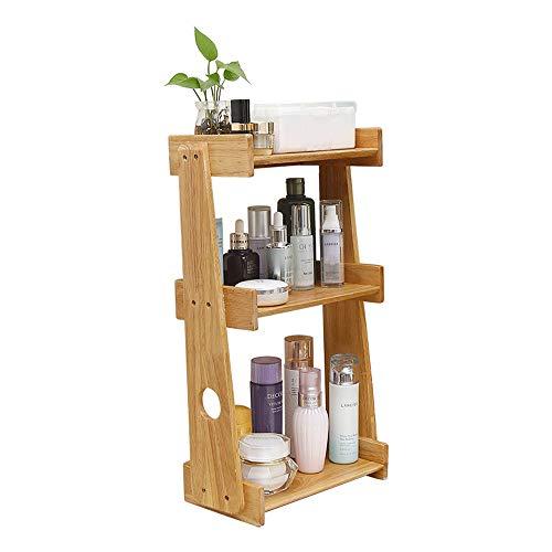 """3 Tiers Holz Makeup Organizer Aufsatz- Make Up Caddy Shelf Kosmetik Organizer Box Lippenstift Regal for Badezimmer Dresser Vanity Aufsatz- 10,62\""""D X 10,23\"""" W X 20,47\"""" H"""