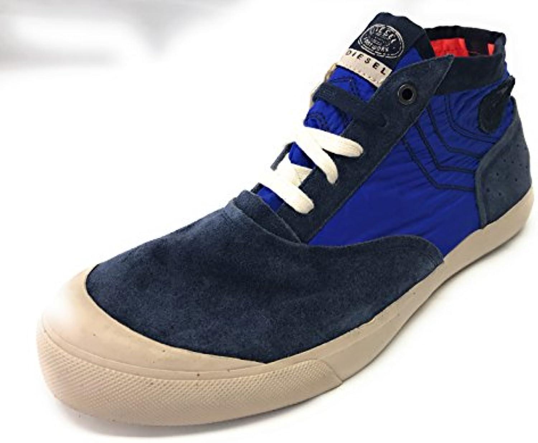 Diesel Pritle Herren High Sneaker  Blau  Wildleder/Segeltuch  Gr.43