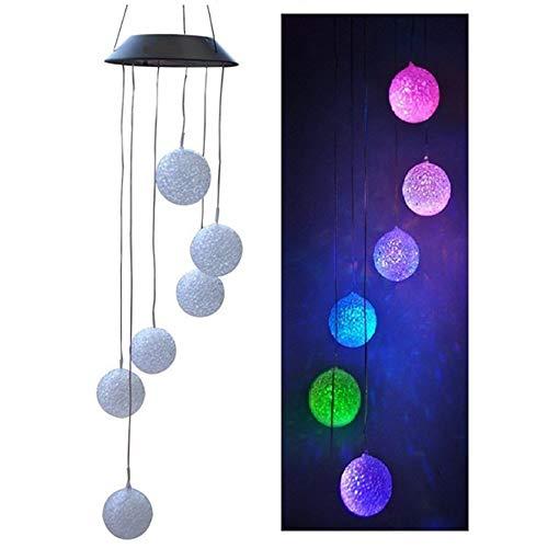Lixada Solar Outdoor Wind Bell Licht, Spiral Spinner Licht, Mobile Wind Glockenspiel, Kreative Solar LED-Licht, Outdoor Hängende Deko Lampe